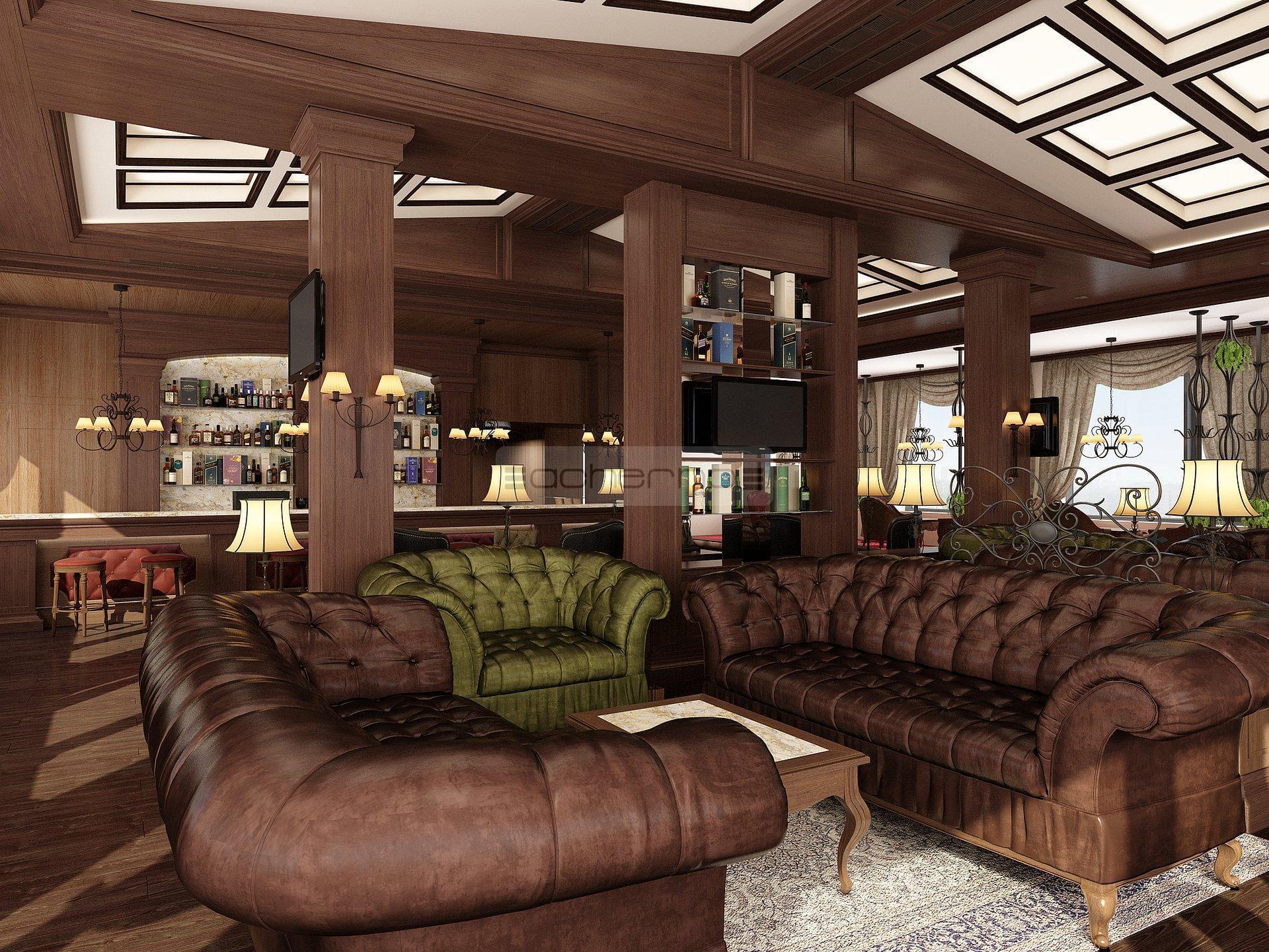 Acherno innenarchitektur projekt gastst tte zigarrenlounge for Innenarchitektur und raumgestaltung