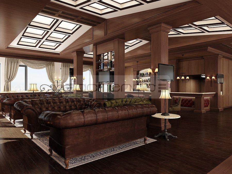 Acherno innenarchitektur projekt gastst tte zigarrenlounge for 3d raumgestaltung