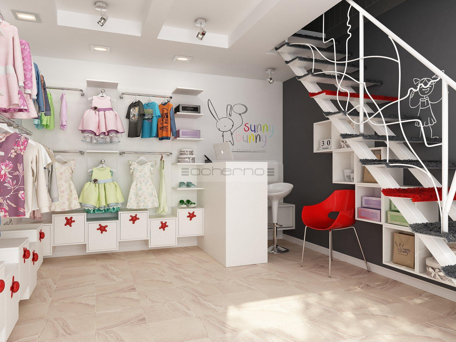 Acherno raumgestaltung kindermode boutique sunny bunny for Raumgestaltung cafe