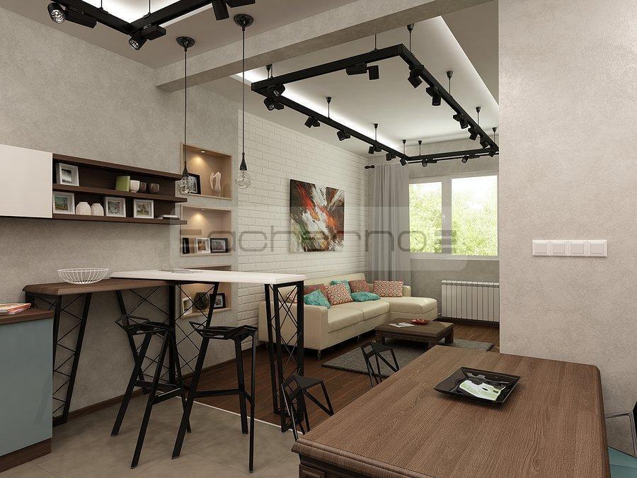 Acherno - Wohnung Design Beton, Ziegel und Eisen