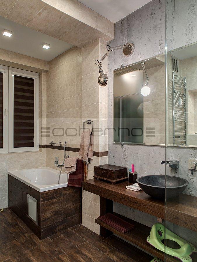 Acherno wohnung design beton ziegel und eisen - Raumgestaltung badezimmer ...